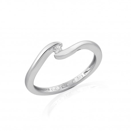 GEMS 386-0384 prsten s briliantem