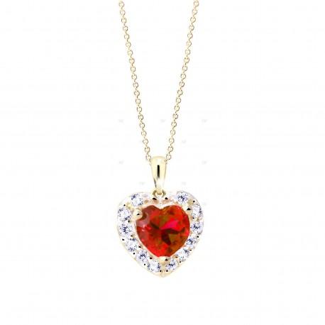 Cutie Jewellery Z8016y přívěsek srdce se zirkony