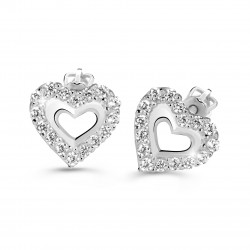 Cutie Jewellery Z60213w náušnice srdíčka s brilianty