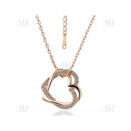 NM OSN007 Kette mit Medaillon weiß Gold/gelb Gold/Rosegold