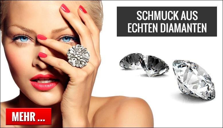 Schmuck aus echten Diamanten